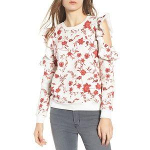 REBECCA MINKOFF Gracie cold shoulder sweatshirt M